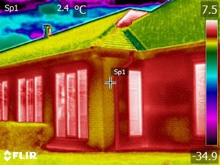 Thermal image of building fabric